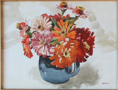"""Hitler's painting """"Vase with flowers""""   Hobby Keeper Articles"""