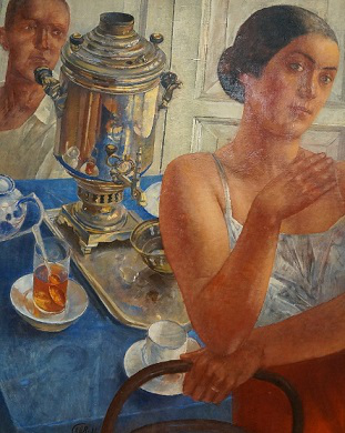 """Painting """"Behind the Samovar"""", 1926 