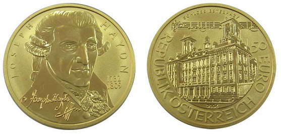 The 50 Euro coin with the image of Haydn | Hobby Keeper Articles