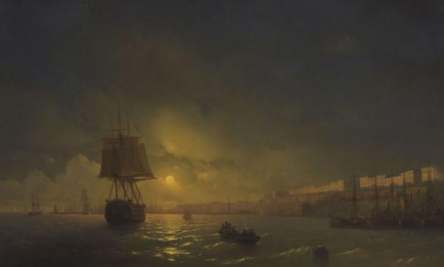 """Picture """"View of Odessa on a moonlit night"""" by Aivazovsky 