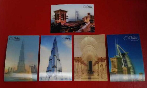 Postcards with Dubai architecture | Hobby Keeper Articles