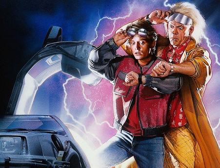 "Shot from the movie ""Back to the future"" 
