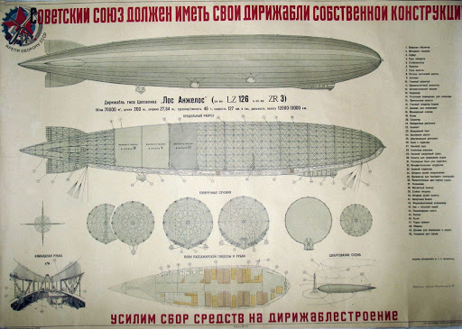 A poster with a picture of the airship | Hobby Keeper Articles