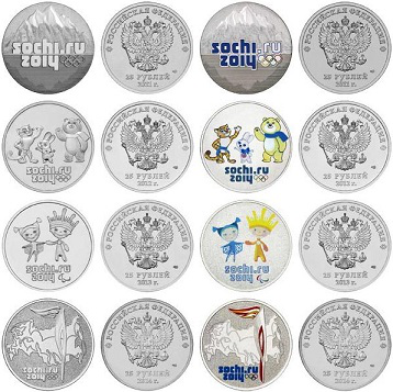 Commemorative coins, color reverse, with Olympic symbols and mascots of the games | Hobby Keeper Articles