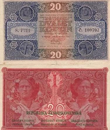Czech banknotes, 1919 | Hobby Keeper Articles