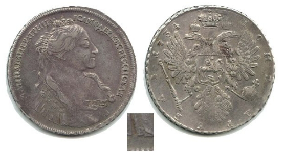 Coin with the image of Anna Ioannovna, 1734 | Hobby Keeper Articles