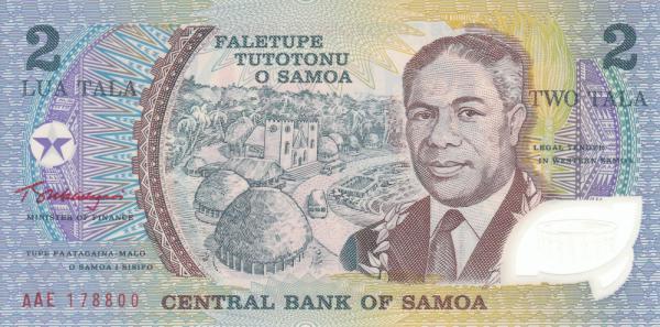2 Tala banknote Samoa | Hobby Keeper Articles