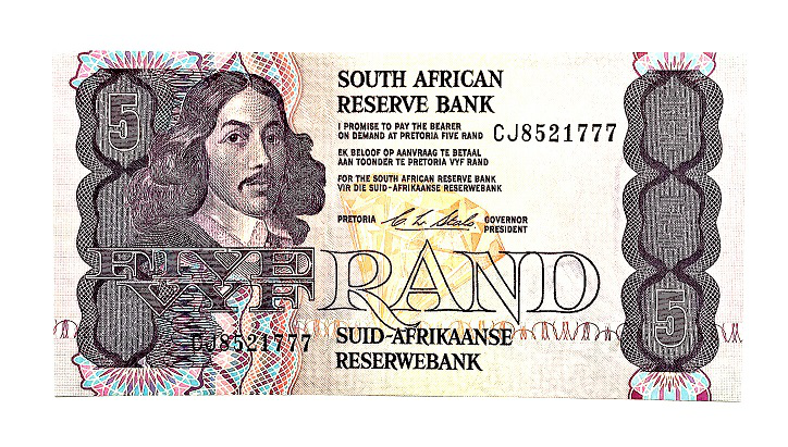 5 Rand banknote, 1978, South Africa | Hobby Keeper Articles