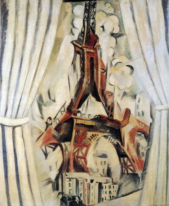"The picture of the ""Eiffel tower"" to Robert Delaunay