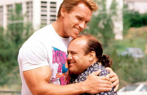 """Photo Arnold Schwarzenegger in """"Gemini"""" (with Danny DeVito), 1988 