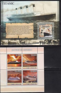 Saint Thomas and Principe stamps 1718-19 Titanic and cruise ships | Hobby Keeper Articles