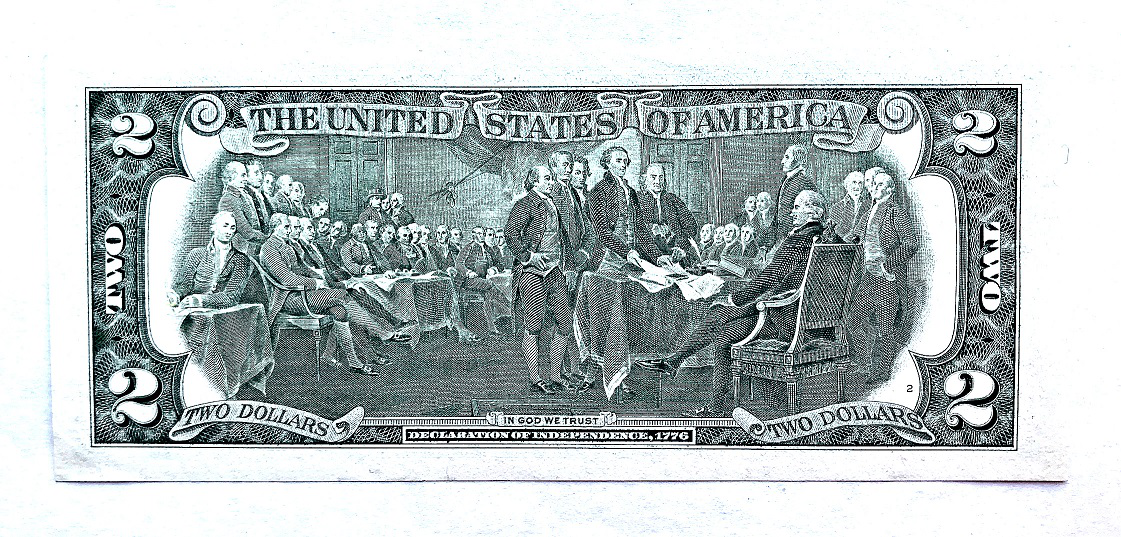 Banknote $ 2 USA, 1995, reverse | Hobby Keeper Articles