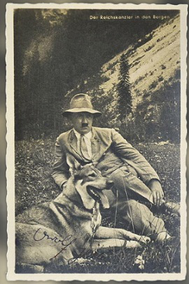 Photo of Hitler with his dog Blondie   Hobby Keeper Articles