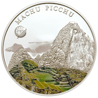 Silver coin on the reverse of Machu Picchu, 2008, Mongolia | Hobby Keeper Articles