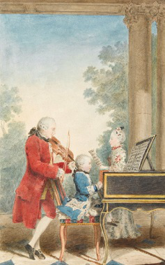 A picture of Mozart and his father | Hobby Keeper Articles