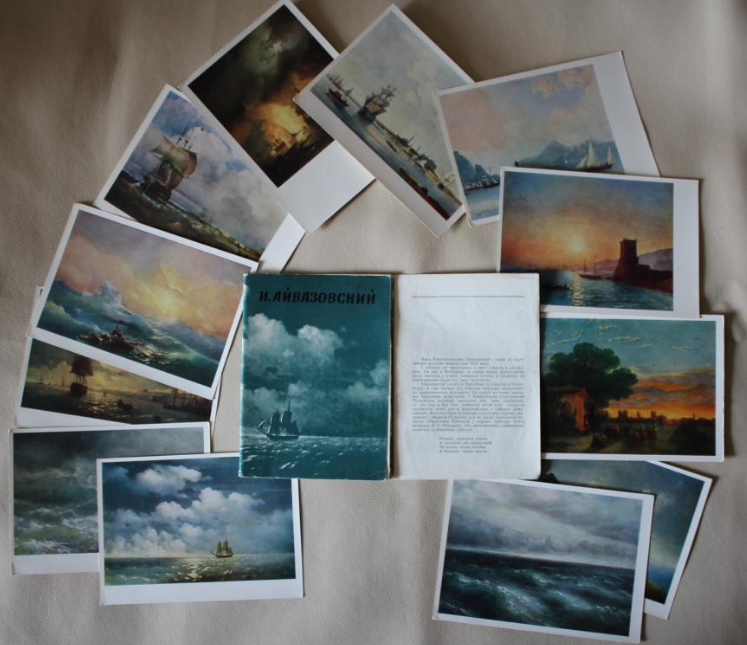 Set of postcards with paintings by Aivazovsky | Hobby Keeper Articles