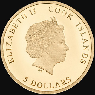 $ 5 coin, 2017, cook Islands  Hobby Keeper Articles