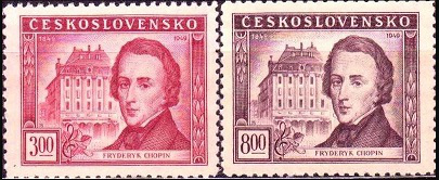 Stamps Czechoslovakia Chopin | Hobby Keeper Articles
