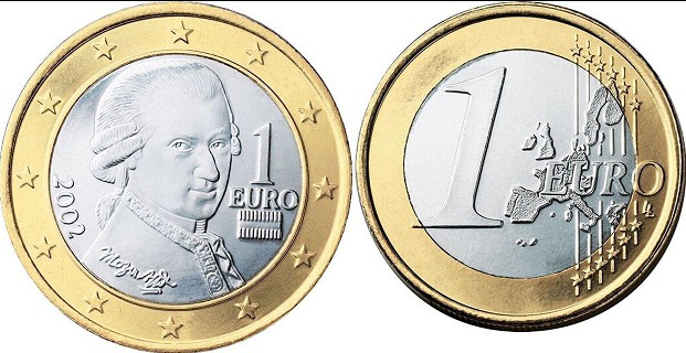 Coin 1 Euro 2002 with Mozart | Hobby Keeper Articles