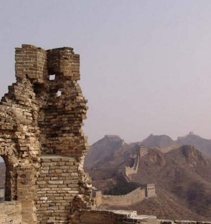 Destroyed part of the great wall of China | Hobby Keeper Articles