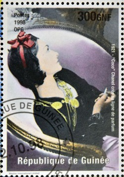 Coco Chanel postage stamp, 1998, Republic of Guinea | Hobby Keeper Articles
