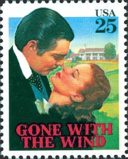 Gone with the wind postage stamp, 1990, USA | Hobby Keeper Articles