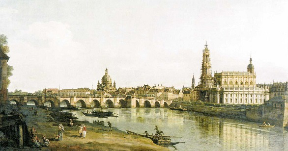 Elbufer Dresden to the right of the August bridge, Bernardo Bellotto | Hobby Kepper Articles