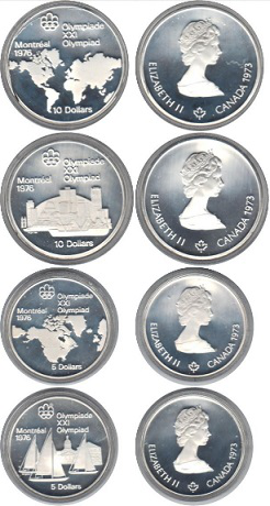 Gift Olympic coin set, 1973, Canada | Hobby Keeper Articles