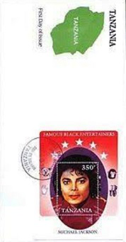 Mail block dedicated to Michael Jackson, Tanzania | Hobby Keeper Articles