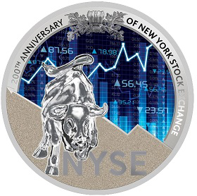 1000 franc coin with the new York stock exchange symbol on the reverse, Republic of Cameroon, 2017| Hobby Keeper Articles
