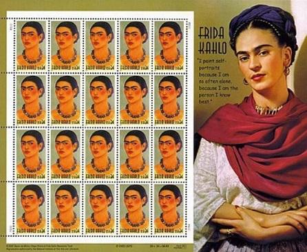 Frida Kahlo stamp sheet, 2001, USA | Hobby Keeper Articles