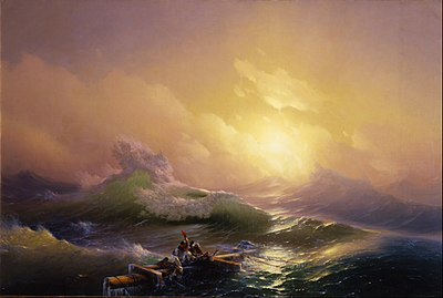 """Paintings by Aivazovsky """"the Ninth wave"""" 