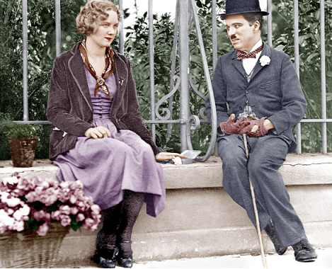 "A scene from the movie ""city Lights"" with Chaplin 