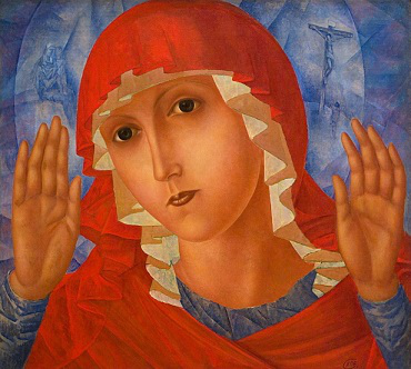 """The painting """" The Mother of God. Touching of evil hearts """" 
