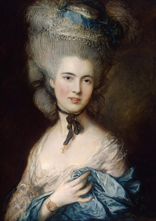 """The lady in blue."" Painting – Thomas Gainsborough, 1780 