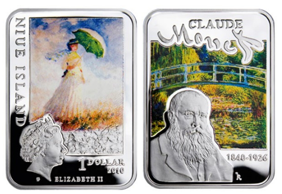 1 dollar coin Niue Island with Monet | Hobby Keeper Articles