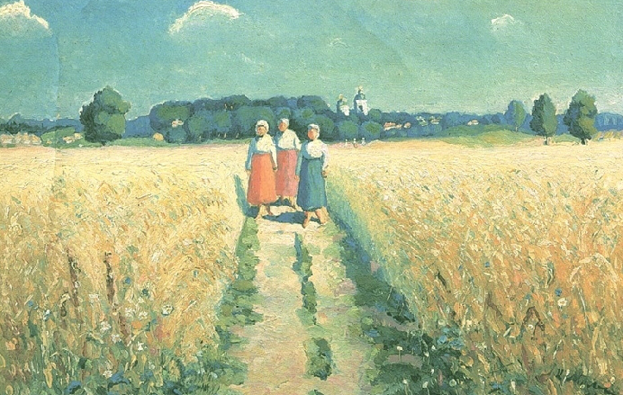 """Malevich painting """"Three women on the road"""" 