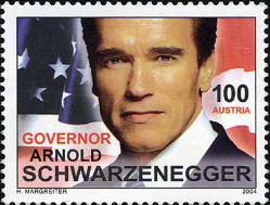 "Postage stamp ""Arnold Schwarzenegger"", 2004, Austria | Hobby Keeper Articles"