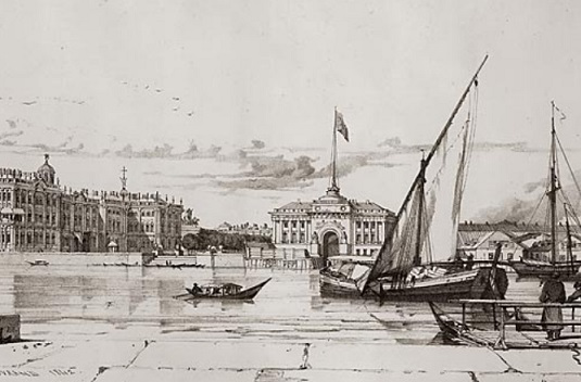 """""""Winter Palace and Admiralty"""" by A. Durand 