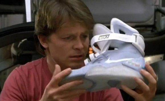 "Nike tennis shoes in the movie ""Back to the future"" 