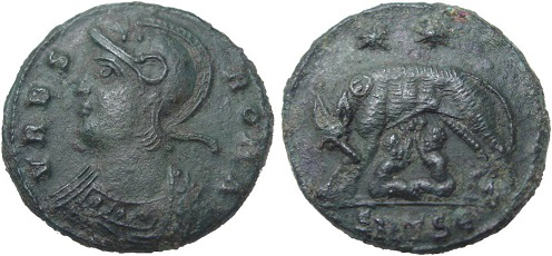 Coin in honor of Constantinople with the Capitoline wolf | Hobby Keeper Articles
