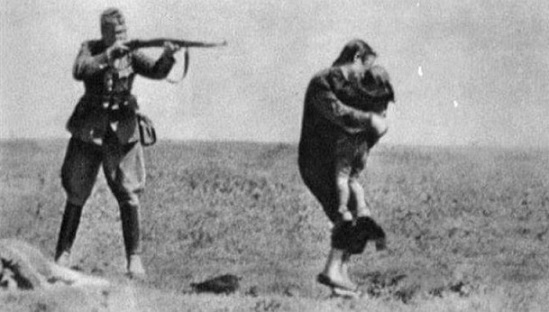 German soldier shoots a woman with a child   Hobby Keeper Articles