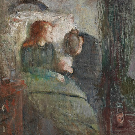 """Munch's painting """"The Sick Girl"""" 