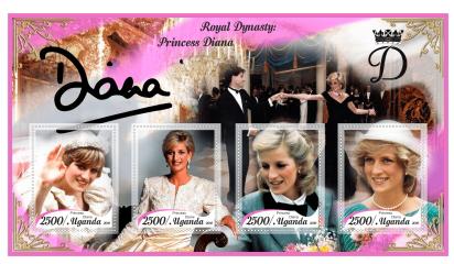 Diana stamp sheet, Uganda   Hobby Keeper Articles