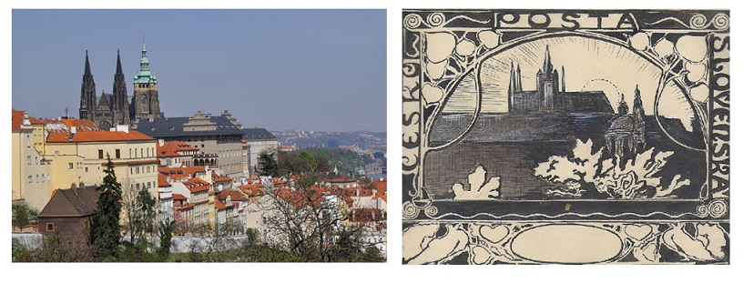 Photos of Prague and postage stamps with views of Prague | Hobby Keeper Articles
