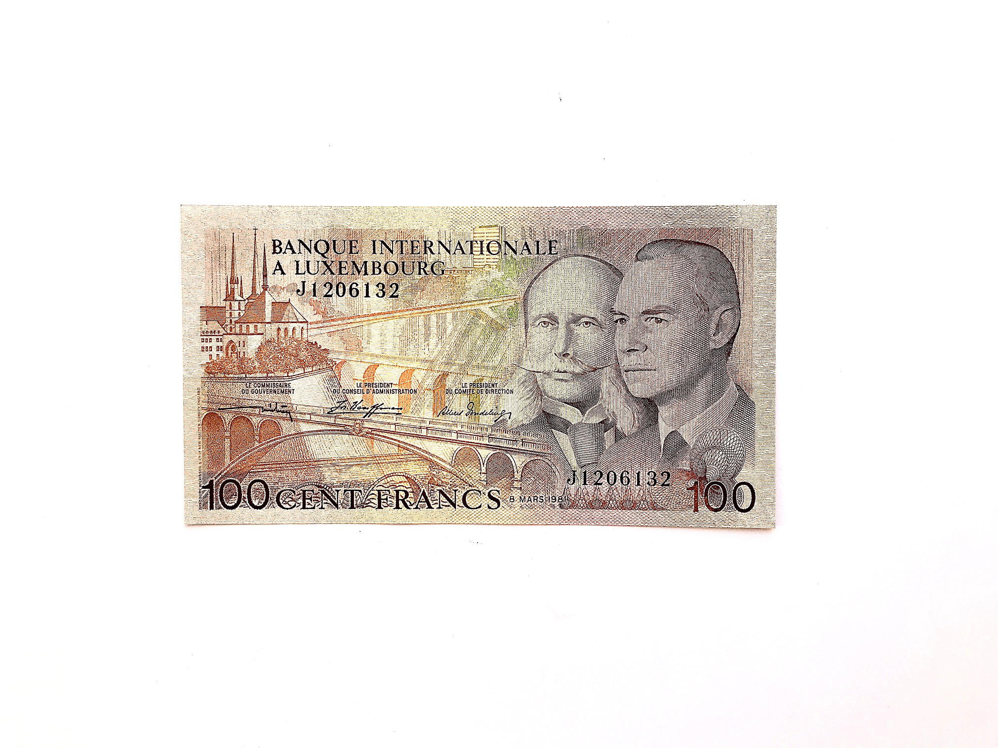 100 franc banknote, 1981, Luxembourg | Hobby Keeper Articles
