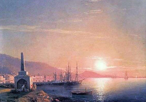"Aivazovsky painting ""the Bay of Feodosiya (Sunrise in Feodosiya)."" | Hobby Keeper Articles"