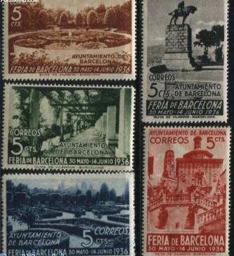 """Postage stamps """"Barcelona-Spain"""", 1936, Spain 