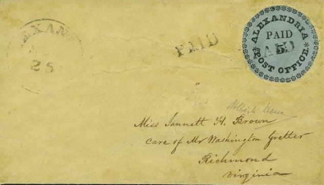 Envelope with a rare stamp 'Blue Alexandria' | Hobby Keeper Articles