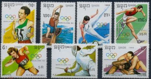 Set of stamps dedicated to the Olympic games in Barcelona, 1992 | Hobby Keeper Articles